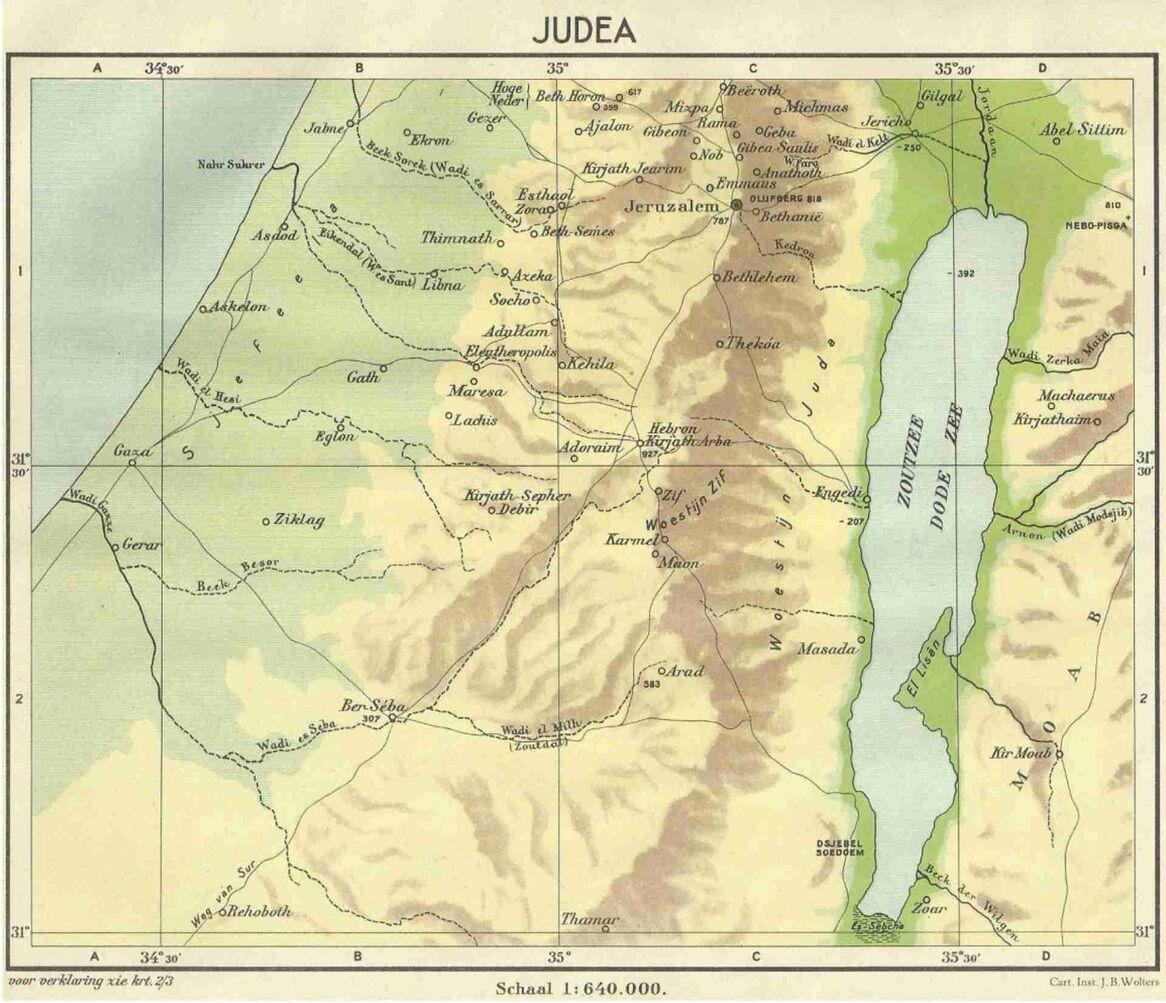 Kaart van Judea