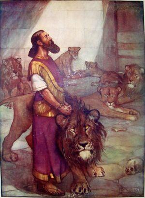 Daniël in de leeuwenkuil - Alan Wright - Vernon Stokes.jpg