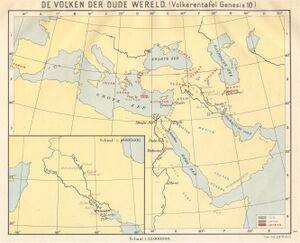 Volken der oude wereld - volkerentafel Genesis 10 (Wolters).jpg